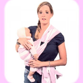 Porteo de bebé con nudo en la cadera