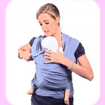 Porteo de bebé con un elástico preanudado