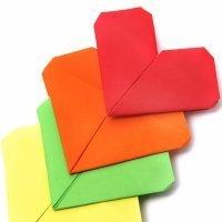 Aprende a hacer origami, un corazón de papel