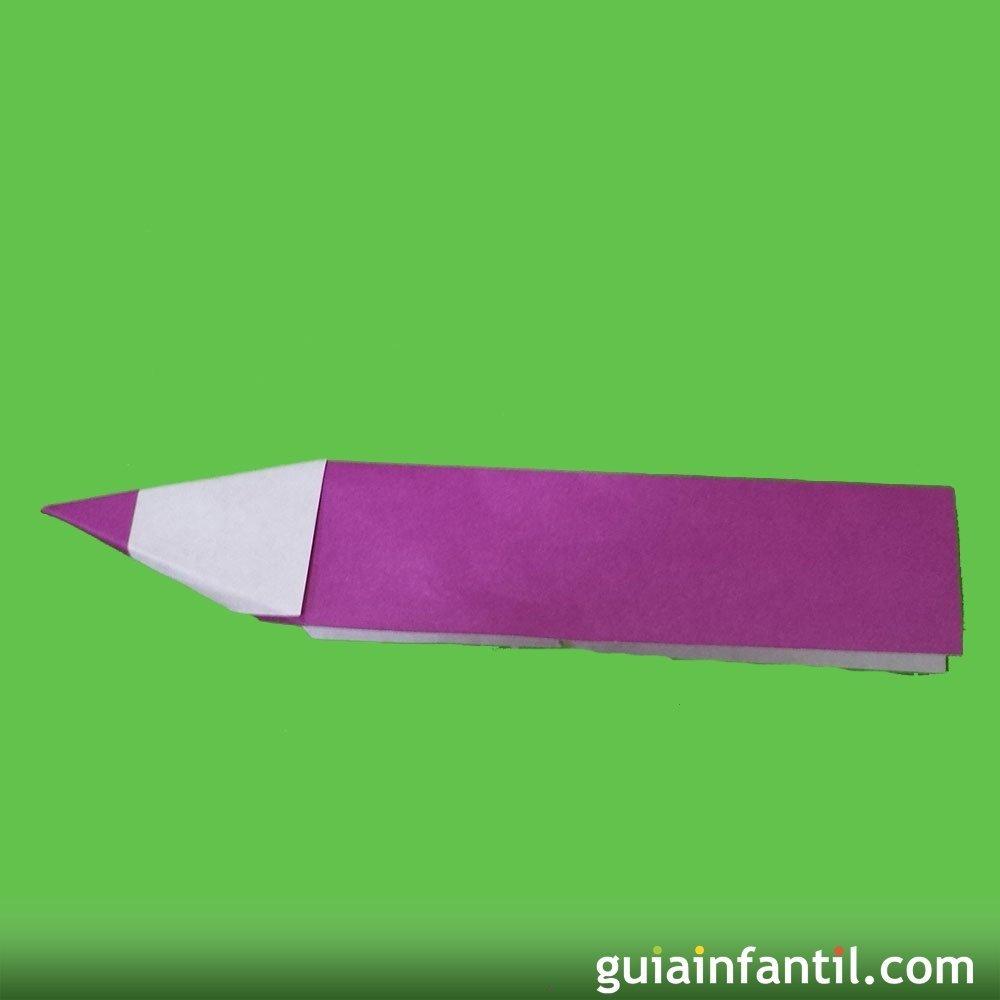 Papiroflexia c mo hacer un l piz de papel for Como aser un criadero de mojarras