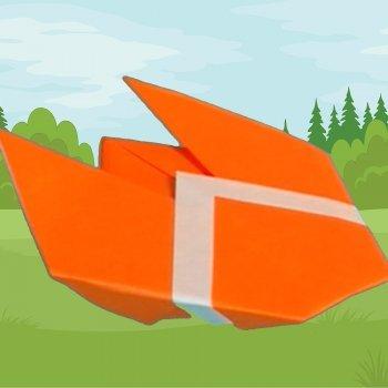 Cigarra de origami