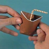 Cómo hacer un vaso de papel, origami