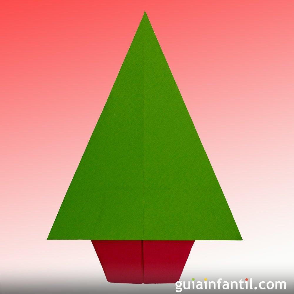 Un rbol de navidad de papel aprende origami - Tutorial arbol de navidad ...