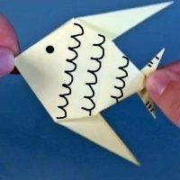 Un pez de papel, cómo hacer papiroflexia