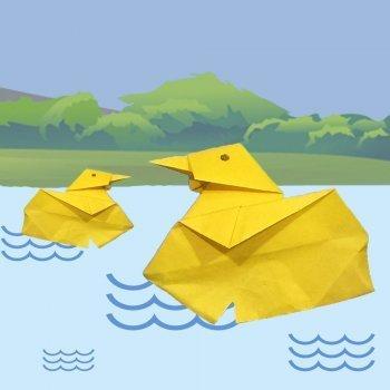 Cómo hacer un pato de papel. Origami para niños