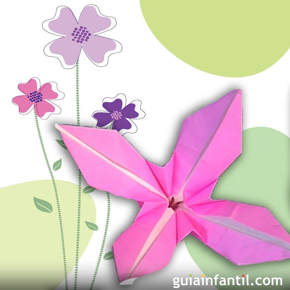 Una flor de papel c mo hacer origami - Www como hacer flores com ...