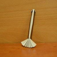 Crea una escoba de bruja. Origami para Halloween