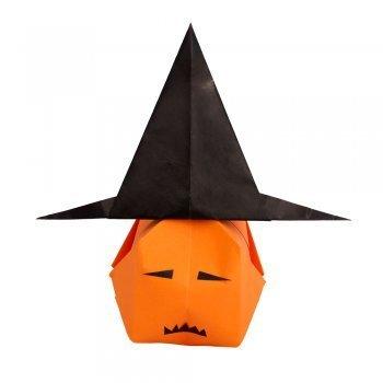 Origami de calabaza. Papiroflexia de Halloween