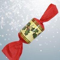 Envoltorio con forma de caramelo. Manualidad de Navidad