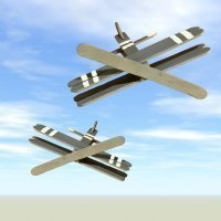 Cómo hacer un avión de madera con materiales reciclados