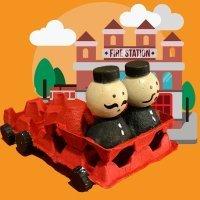 Coche de bomberos. Manualidades para niños
