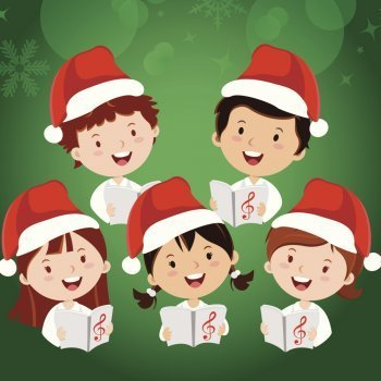 Resultat d'imatges de niños cantando navidad