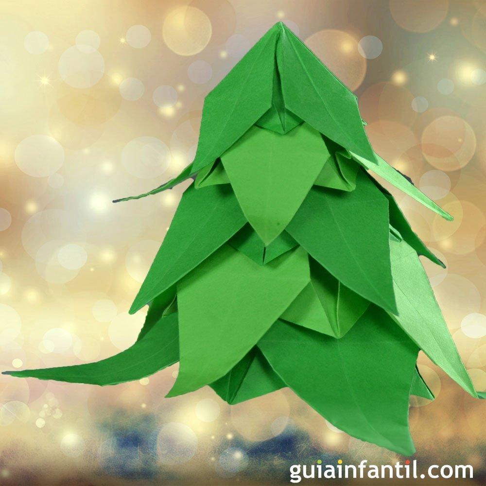 C mo hacer un rbol de navidad de origami papiroflexia for Como hacer un arbol de navidad original