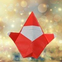 Cómo hacer un Papá Noel de origami. Papiroflexia de Navidad