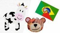 Los animales de la granja en portugués