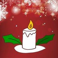 Enseña a tu hijo a dibujar una vela de Navidad