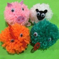 Cómo crear animales a partir de pompones de lana