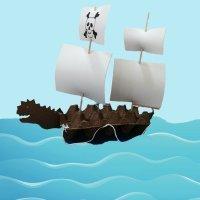 Cómo hacer un barco pirata con cajas de huevos