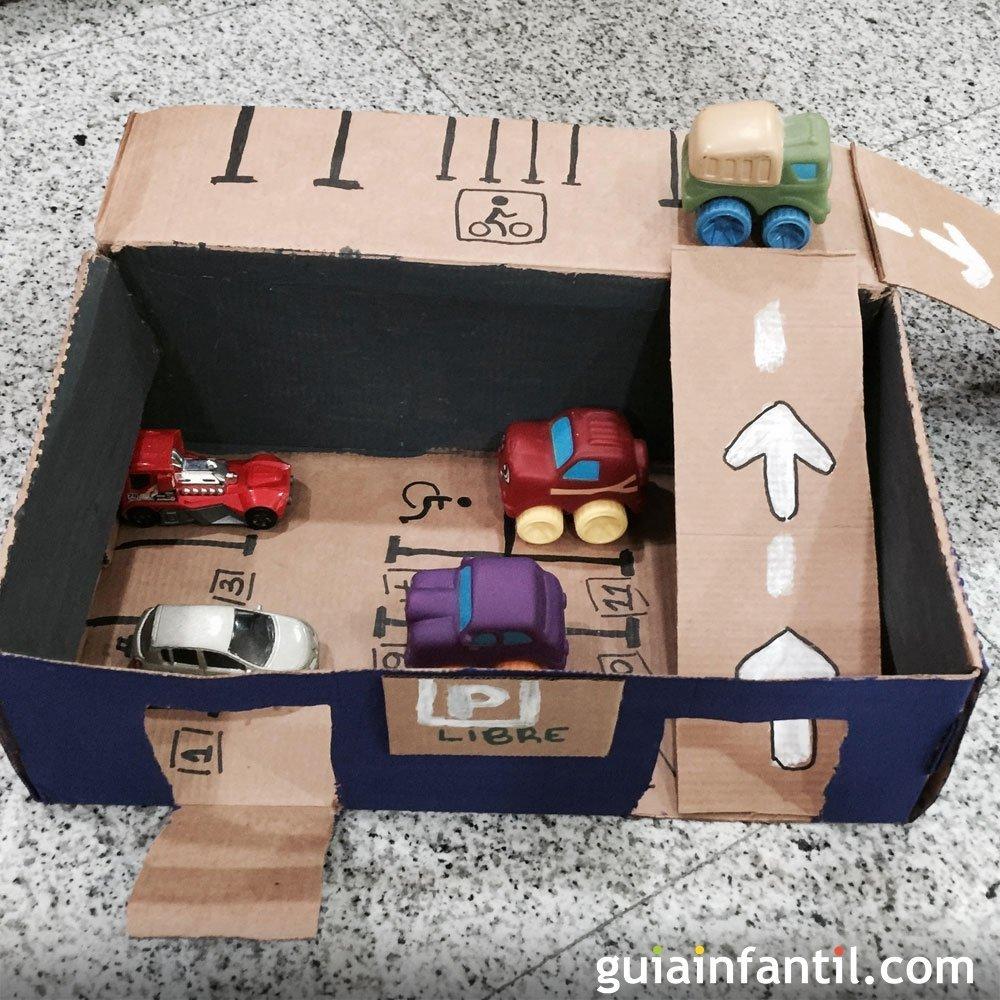 C mo hacer un garaje para coches con una caja - Garaje para coches ...