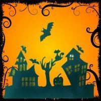 Cómo hacer una casa de Halloween con cartulina