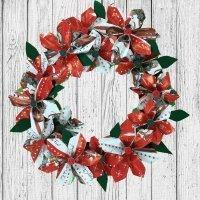 Corona de Navidad de origami, paso a paso