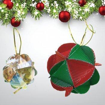 Cómo hacer unas bolas de Navidad para el árbol con cartón de reciclaje