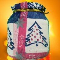 Portavelas navideño. Manualidades de reciclaje