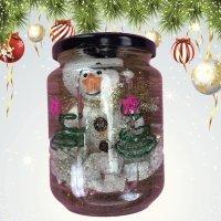 Bola de nieve para Navidad. Manualidad infantil