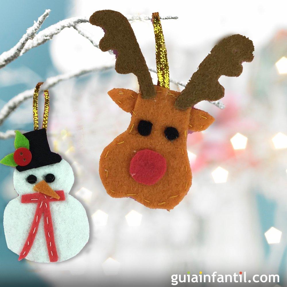 C mo hacer adornos navide os con fieltro paso a paso - Como hacer adorno de navidad ...