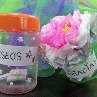 Bote de la gratitud y bote de los deseos. Manualidad infantil