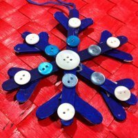 Copo de Nieve, manualidades de decoración para la Navidad