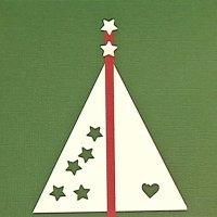 Postales y tarjetas para Navidad, árbol y estrellas. Manualidades con niños