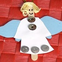 Un ángel de decoración, manualidades para Navidad
