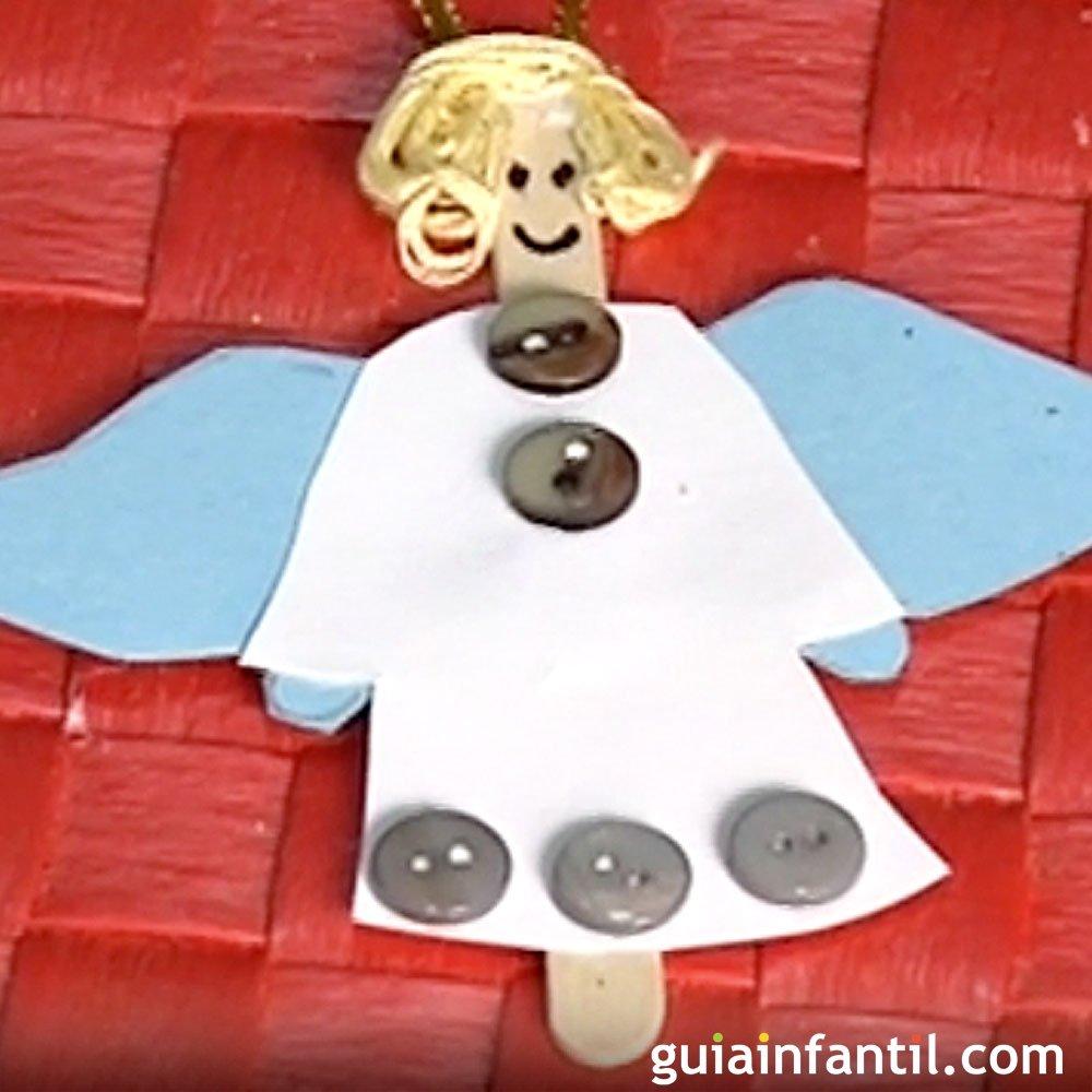 Un ngel de decoraci n manualidades para navidad - Decoracion de navidad para ninos ...