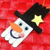 Muñeco de Nieve para decorar la Navidad, manualidades con niños