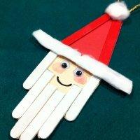 Cómo hacer a Papá Noel con palos de helado