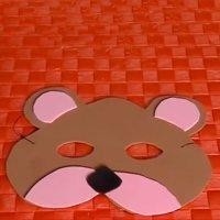 Antifaz de oso, manualidades de disfraces de carnaval