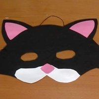 Cómo hacer un antifaz de gato, disfraces para carnaval