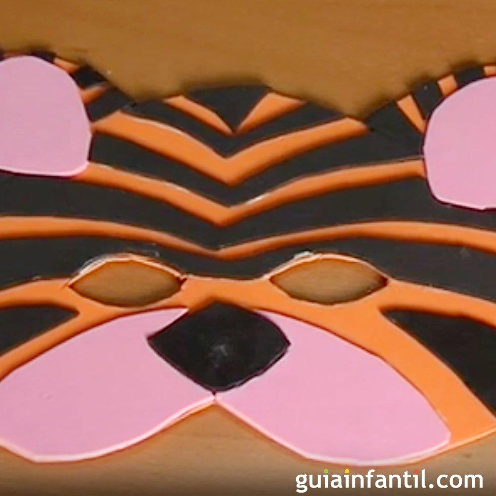 Manualidad Antifaz Tigre Para Disfraz Carnaval Car