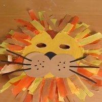 Máscara de león, disfraces caseros para niños en carnaval