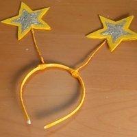 Diadema con estrellas para disfraz de hada. Manualidades con niños