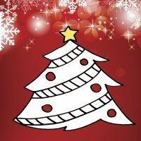 Dibujos navideños para niños. Árbol de Navidad