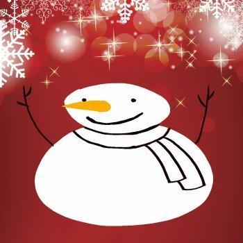 Dibujo de Navidad para niños. Muñeco de nieve
