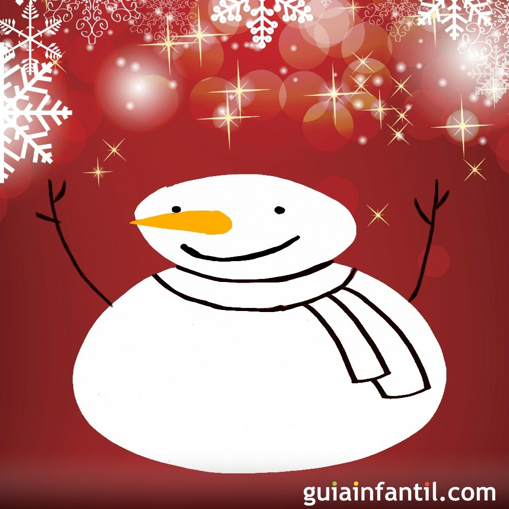 Dibujo de navidad para ni os mu eco de nieve - Munecos de nieve para dibujar ...