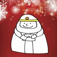 Dibujo infantil de Navidad. Rey Mago Gaspar