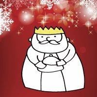 Dibujo navideño para niños. Rey Mago Melchor