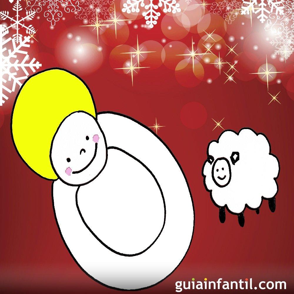 Dibujo para ni os de navidad ni o jes s - Dibujos postales navidad ninos ...