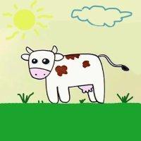 Cómo dibujar una vaca. Dibujos para niños