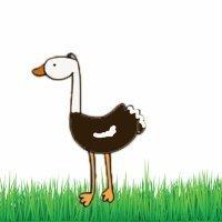 Aprende a dibujar una avestruz. Dibujos para niños