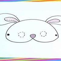 Como dibujar un antifaz de conejo